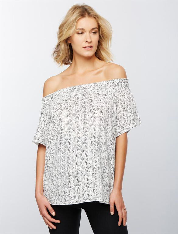 Ripe Off The Shoulder Maternity Top, Print