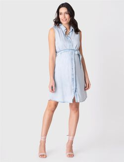 Seraphine Dorothy Maternity Dress, Light Wash