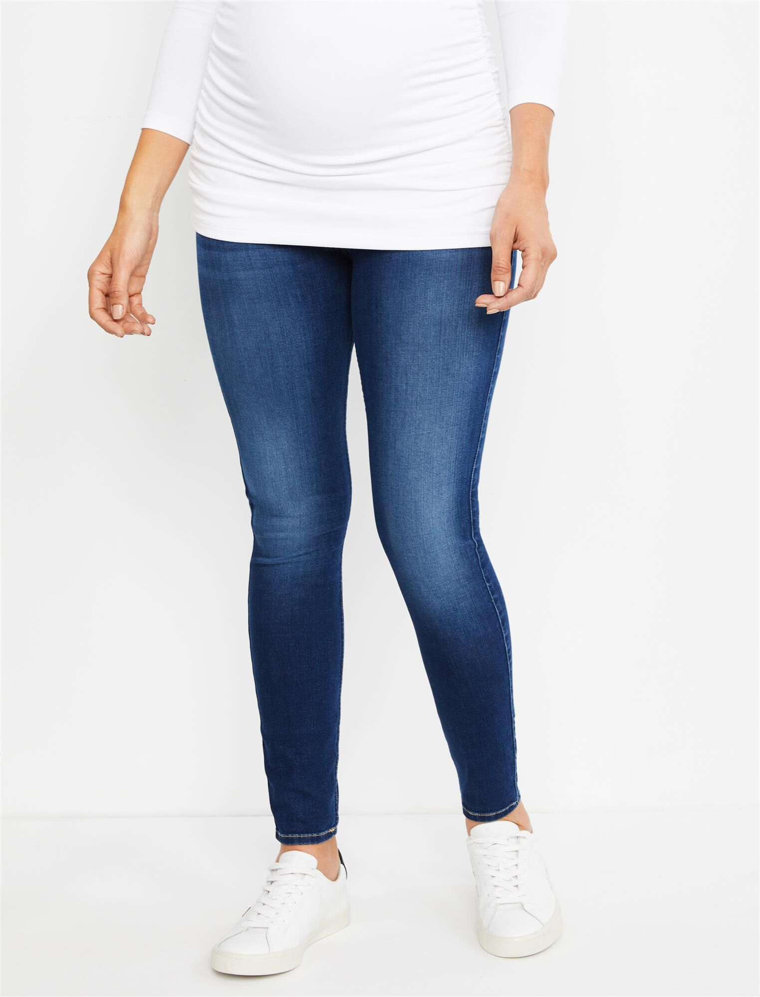7 For All Mankind Secret Fit Belly B(air) Ankle Skinny Maternity Jeans