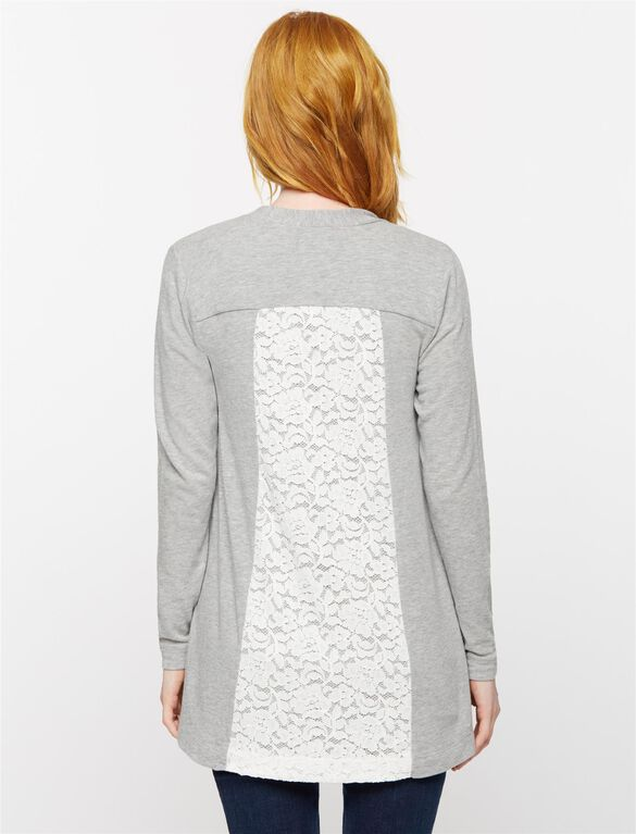 Cocoon Maternity Cardigan, Heather Grey