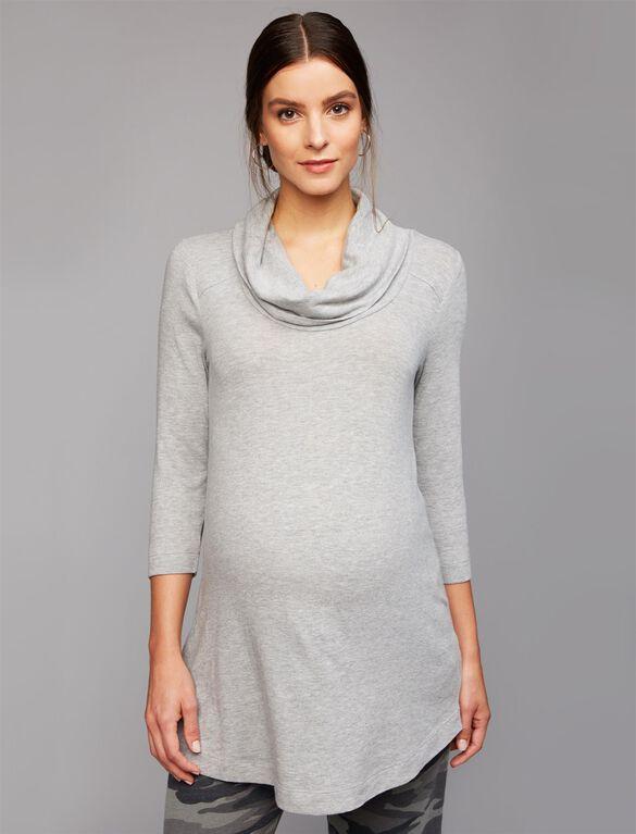 Super Soft Maternity Shirt, Heather Grey
