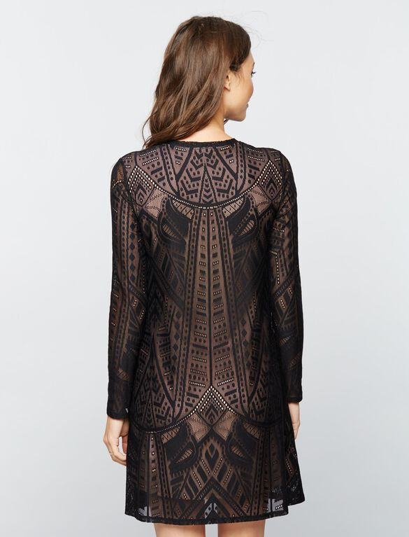 BCBGMAXAZRIA Lace Maternity Dress, Black