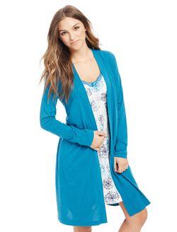 Bump In The Night Nursing Nightgown And Robe- Print, Snowflake Print