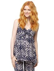 Ruffle Front Maternity Cami, Mix Print