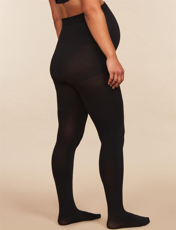 Assets By Sara Blakely Opaque Maternity Tights, Black