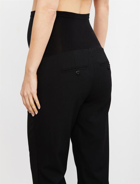 Secret Fit Belly Straight Leg Maternity Suiting Pants, Black