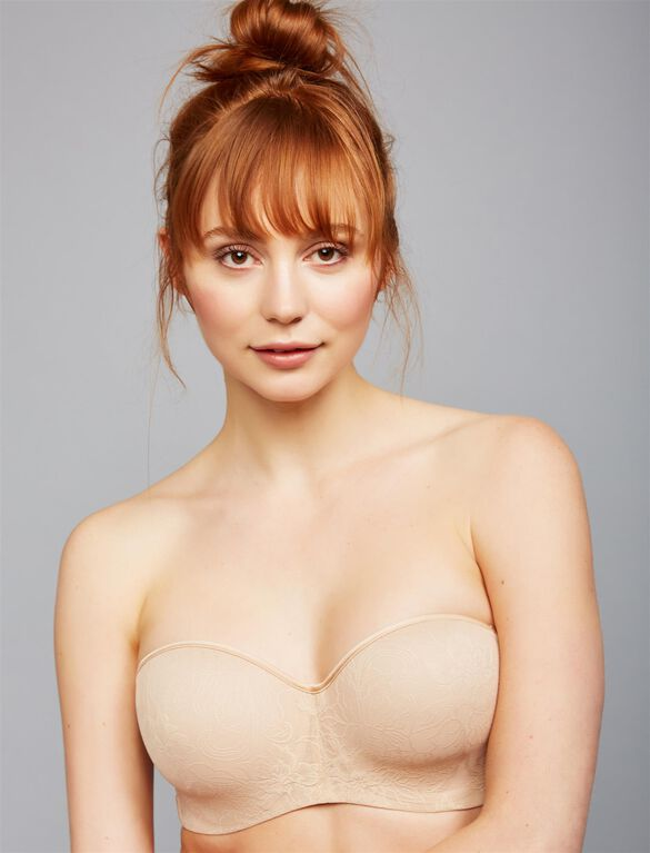 Natori Private Luxuries Strapless Maternity Bra- Nude, Nude