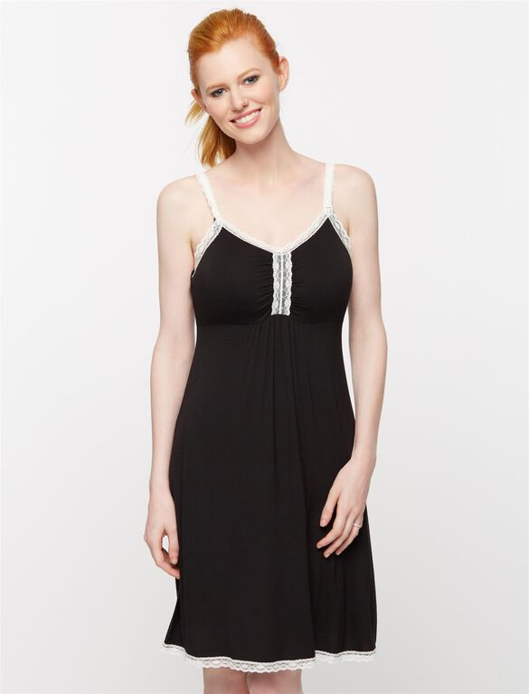 Nursing Nightgown, Black