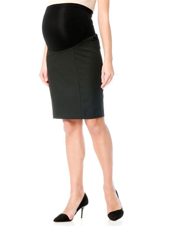 Secret Fit Belly Maternity Skirt, Black