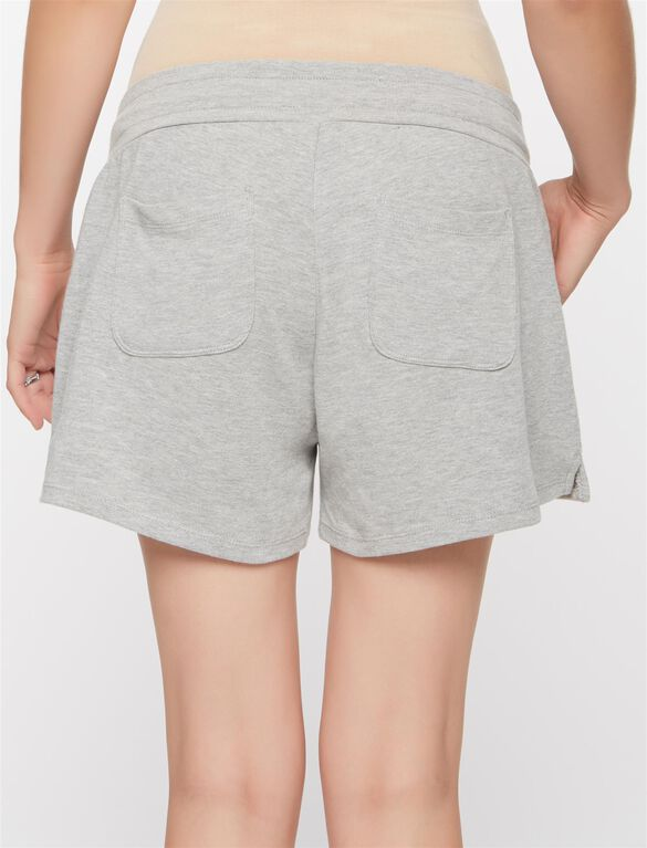 Under Belly Maternity Shorts, Heather Grey