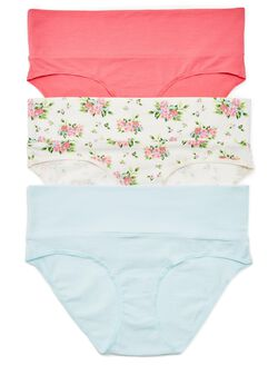 Maternity Fold Over Panties (3 Pack), Pink Multi Pack