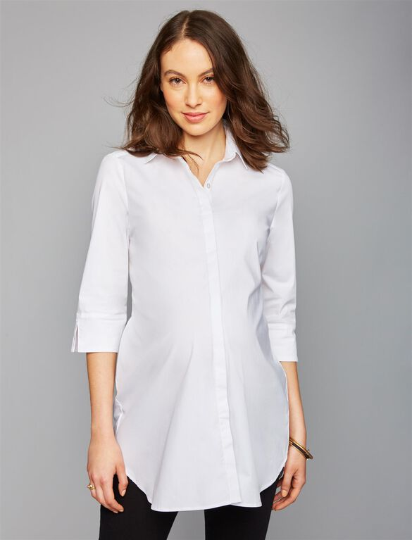 Isabella Oliver Kelly Maternity Shirt, White