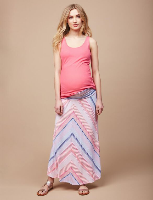 Rib Knit Maternity Tank Top, Strawberry