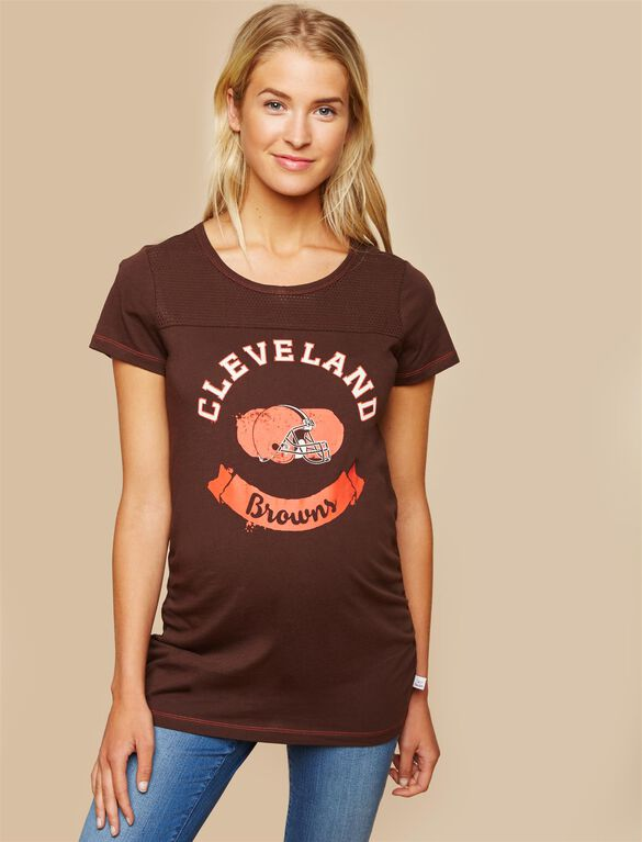 Cleveland Browns NFL Mesh Detail Maternity Tee, Browns