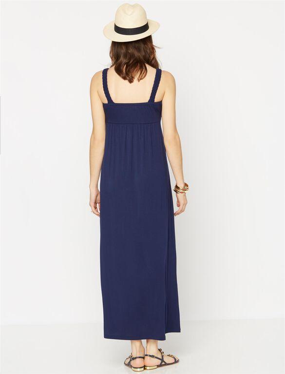 Design History Maternity Maxi Dress, Navy