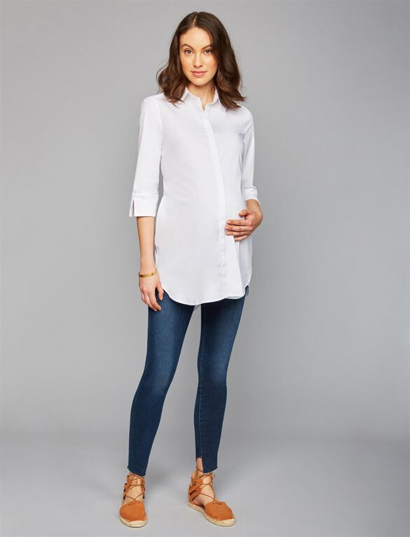 Frame Secret Fit Belly Skinny Leg Maternity Jeans, Dark Wash