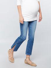 AG Jeans Secret Fit Belly Jodi Crop Side Slit Maternity Jeans, Light Wash