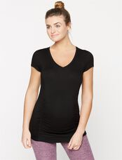 Beyond The Bump By Beyond Yoga V-neck Maternity Shirt, Black