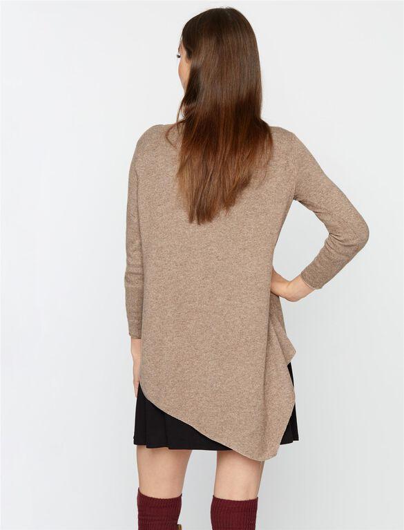 Bias Cut Maternity Sweater, Mahogany