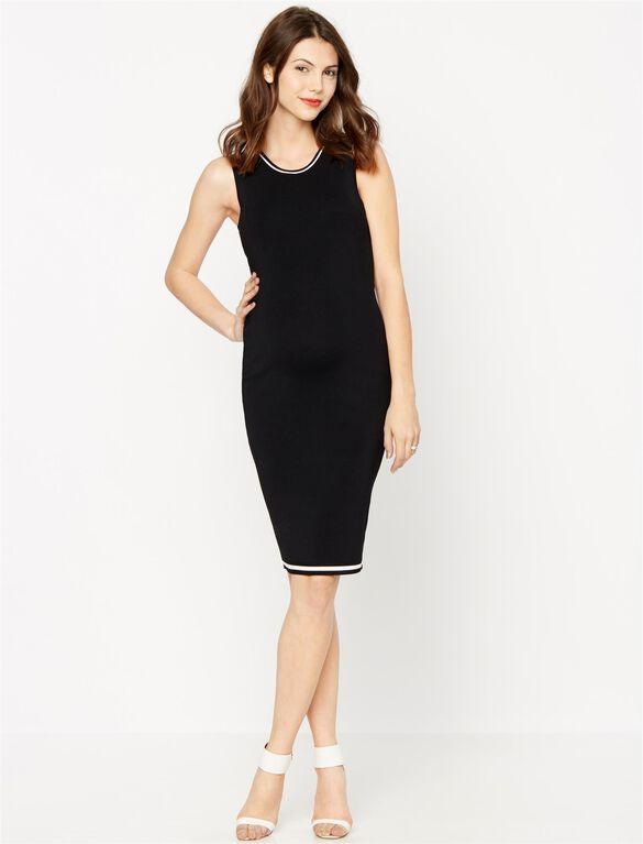 Line Maternity Dress, Black