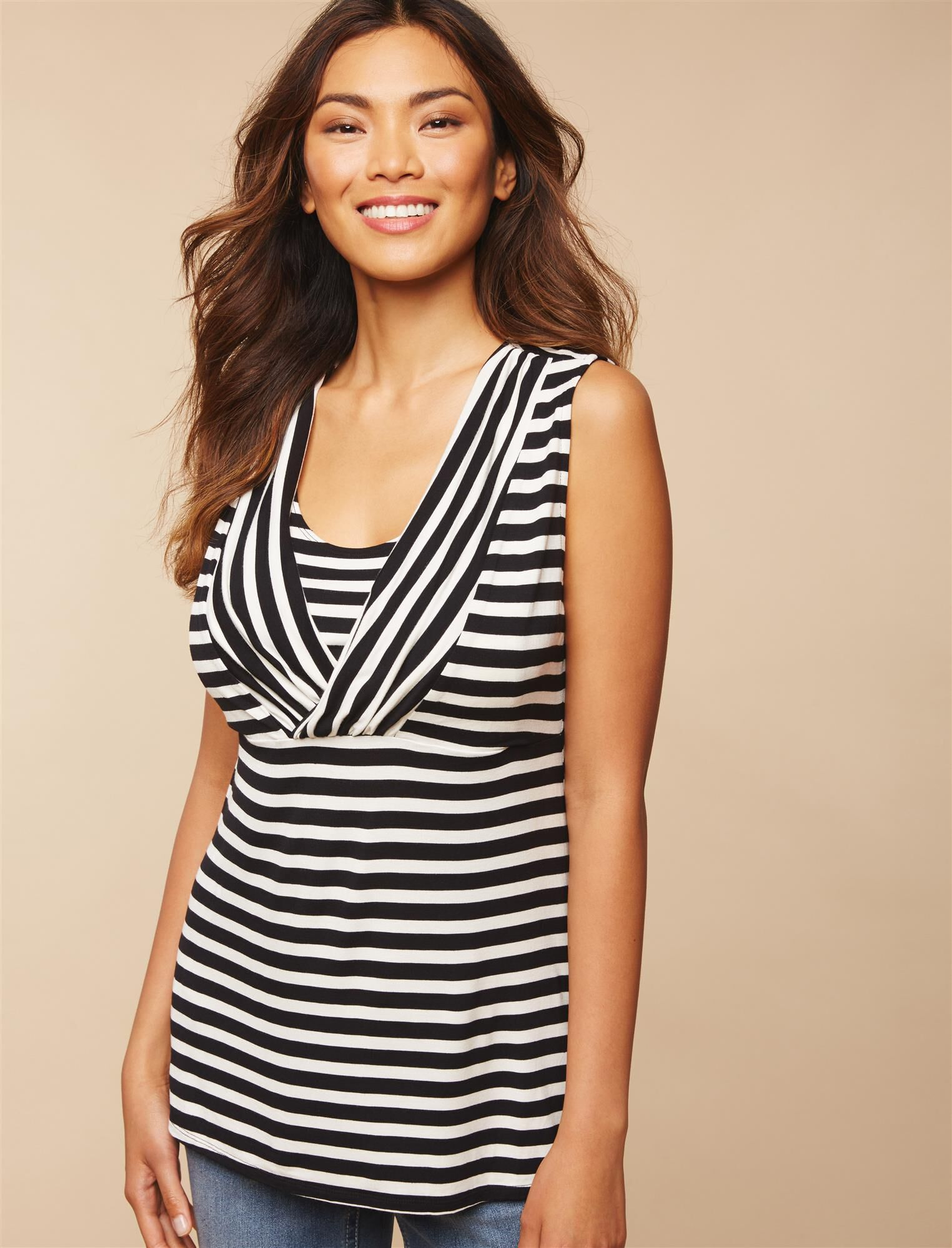 Side Access Ruched Nursing Top