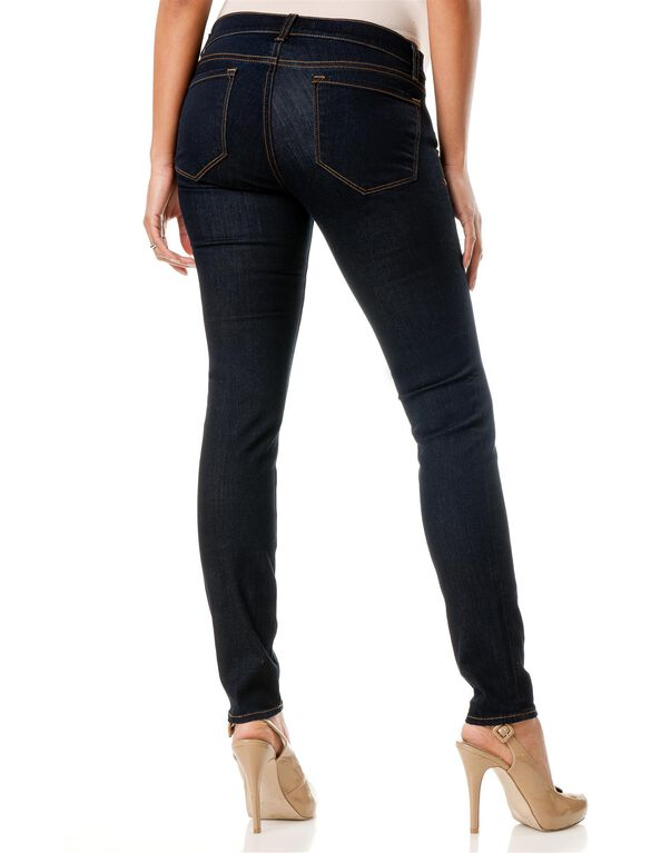 Jbrand Side Panel Maternity Jeans, Starless Dark Wash