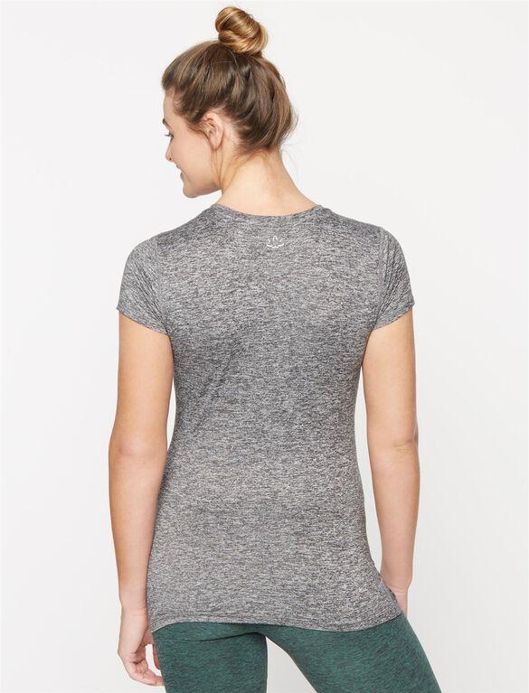 Beyond The Bump By Beyond Yoga V-neck Maternity Shirt, Black/White Spacedye