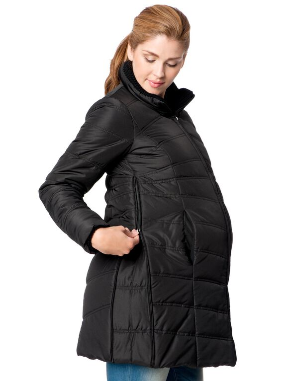 This Faded Glory Maternity Hooded Puffer Coat is excellent for the Winter. I love how warm it keeps me, yet the weight of this jacket is extremely light. The price is amazing!4/5(44).