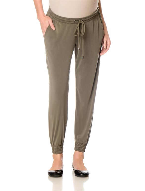 Splendid Under Belly Straight Leg Maternity Jogger Pant, Hunter Green