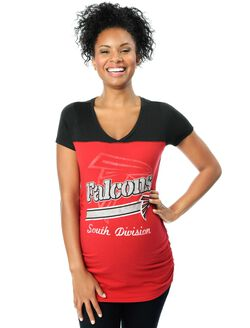 Atlanta Falcons NFL Short Sleeve Maternity Tee, Falcons