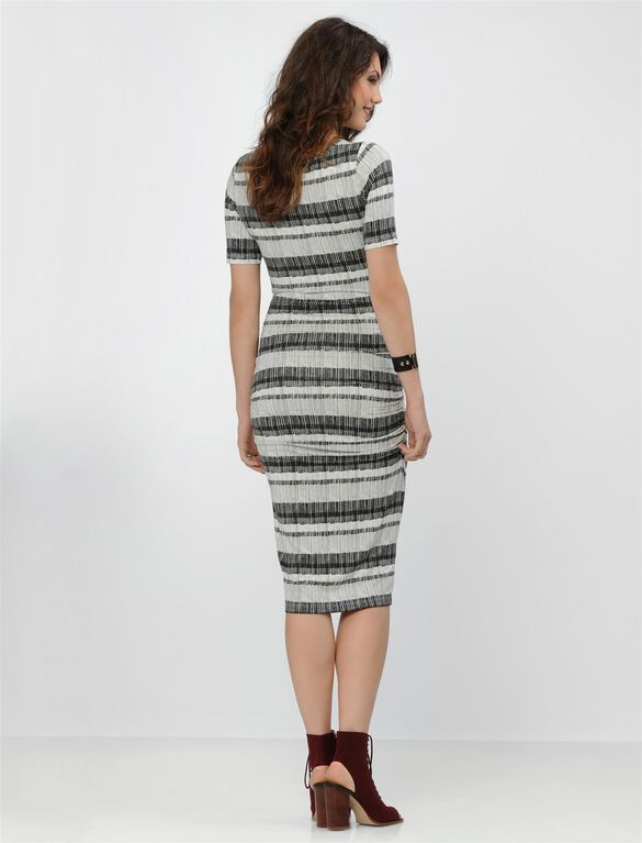 Isabella Oliver Maternity Dress, Tonal Stripe Print