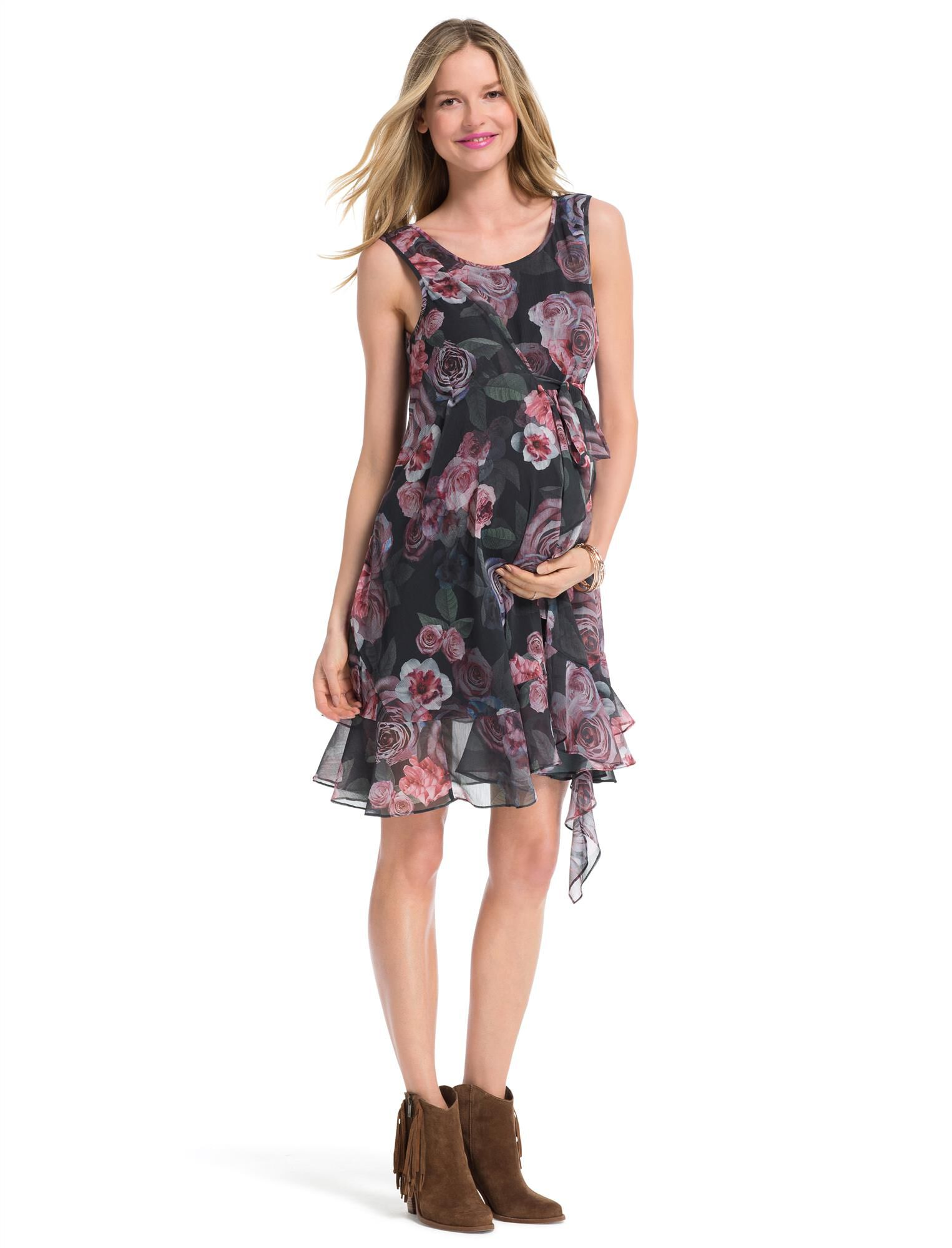 Jessica Simpson Belted Maternity Dress