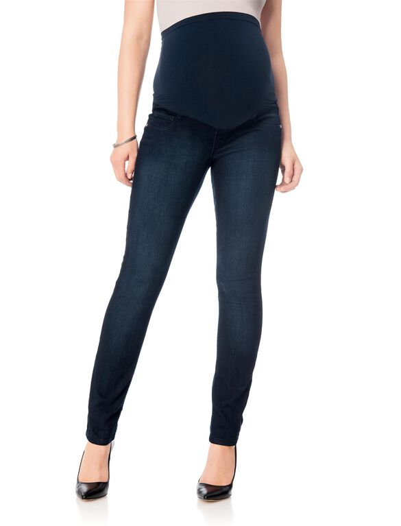 Fade To Blue Secret Fit Belly Skinny Leg Maternity Jeans, Dark Wash