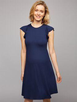 Three Dots Back Interest Maternity Dress, Navy