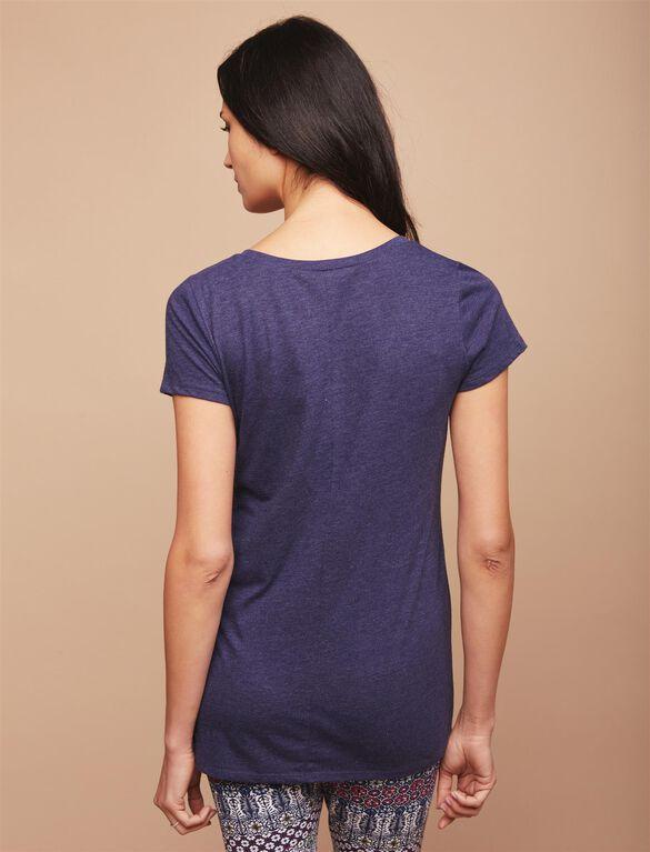 Pocket Tee Maternity T Shirt, Navy
