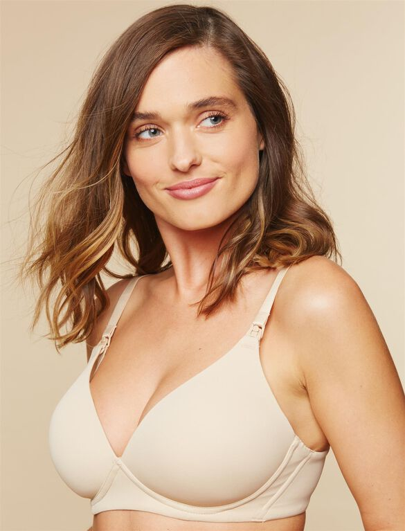Wireless Wireless Nursing Bra, Nude