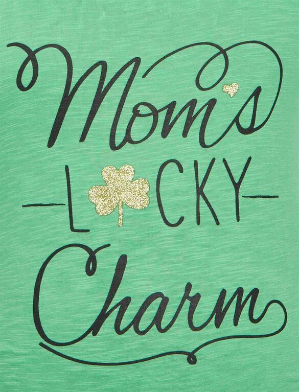 St. Patrick's Day Irish Lucky Maternity Tee, Kelly Green