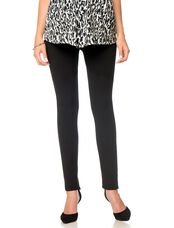 7 For All Mankind Secret Fit Belly Ponte Maternity Pants, Black