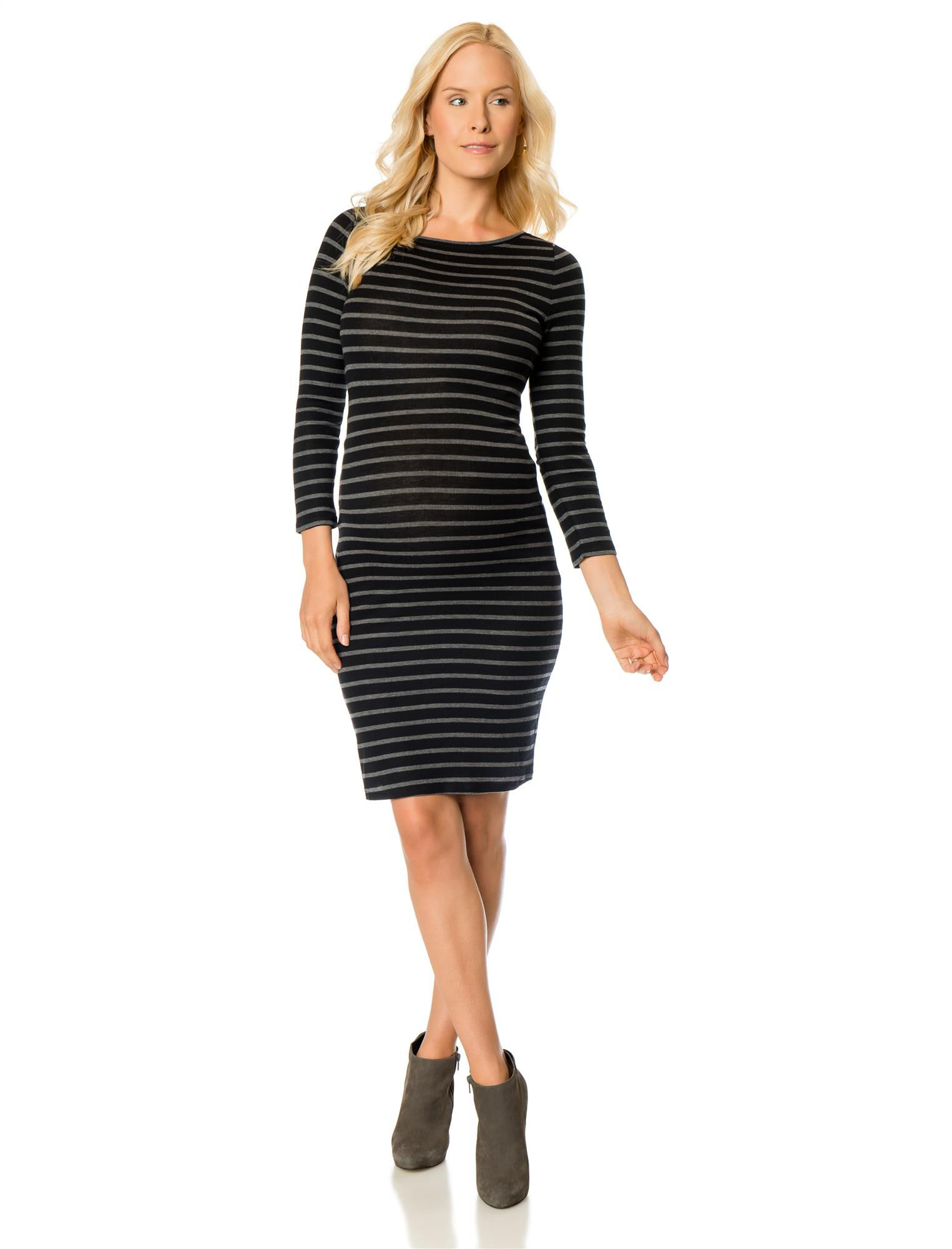 BCBGMAXAZRIA Stripe Maternity Dress