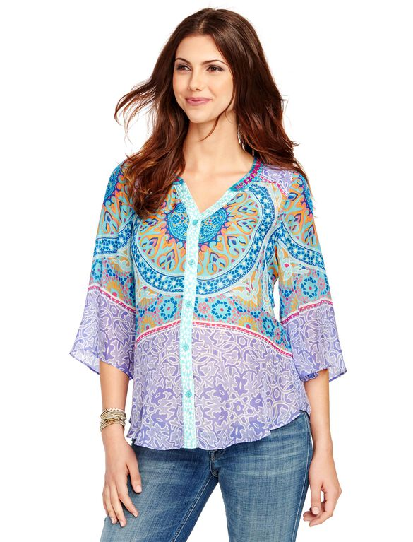 Maternity Tunic, Multi Print