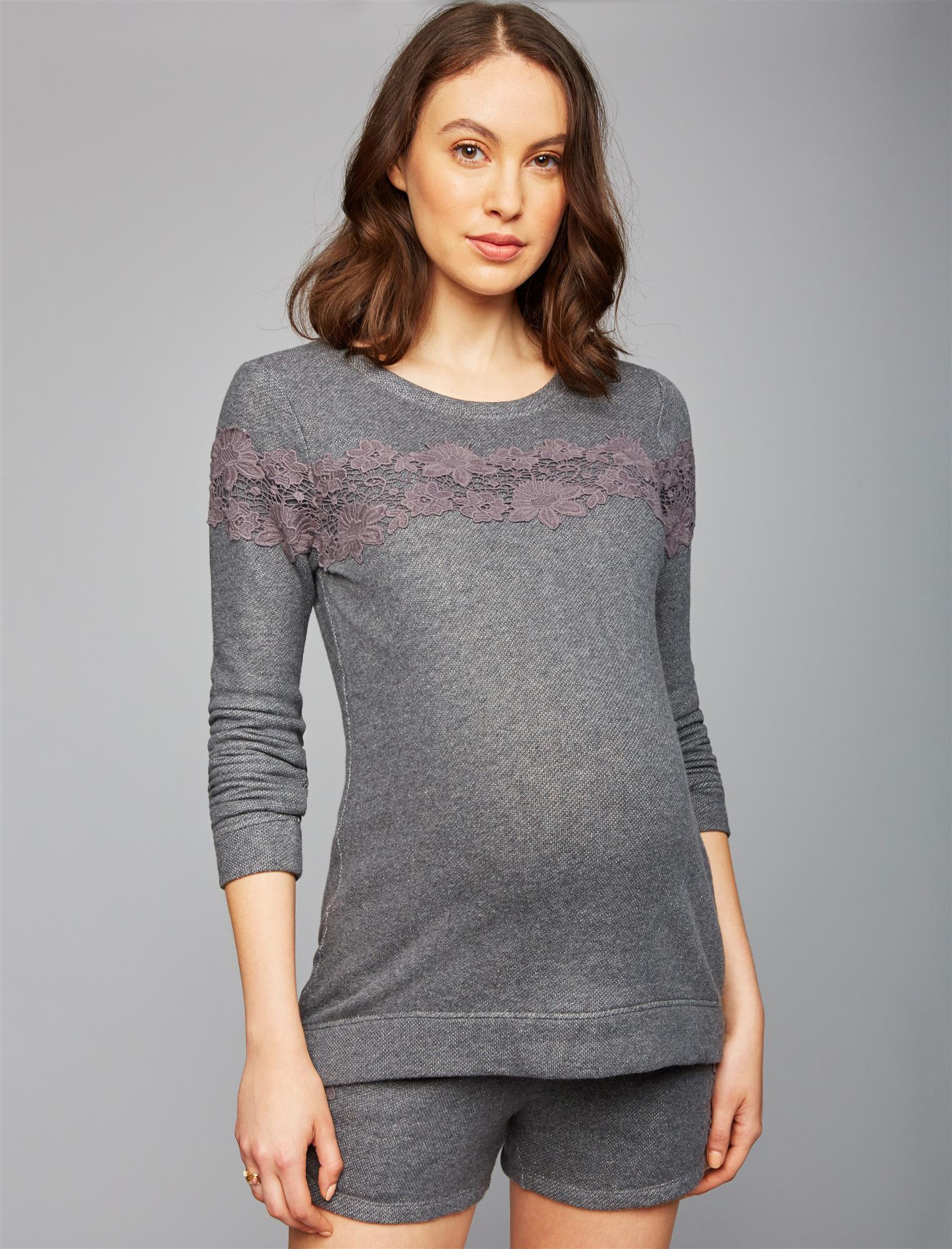 Lace Maternity Sweatshirt