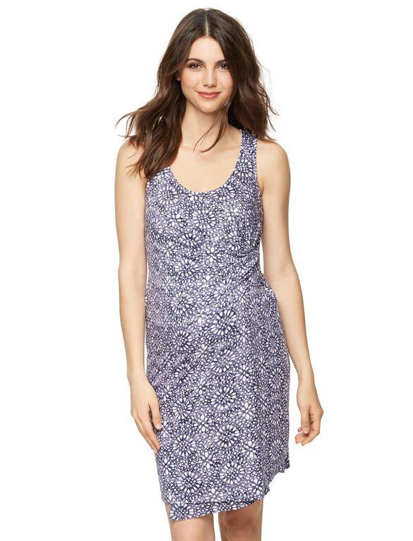 Splendid Sleeveless Print Maternity Dress, Multi Print