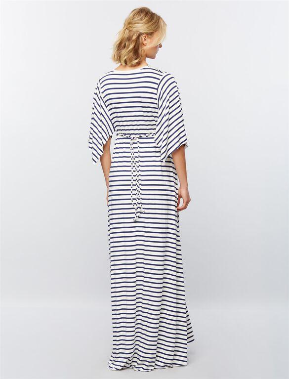 Rachel Pally Striped Caftan Maternity Maxi Dress, Stripe White/Blue