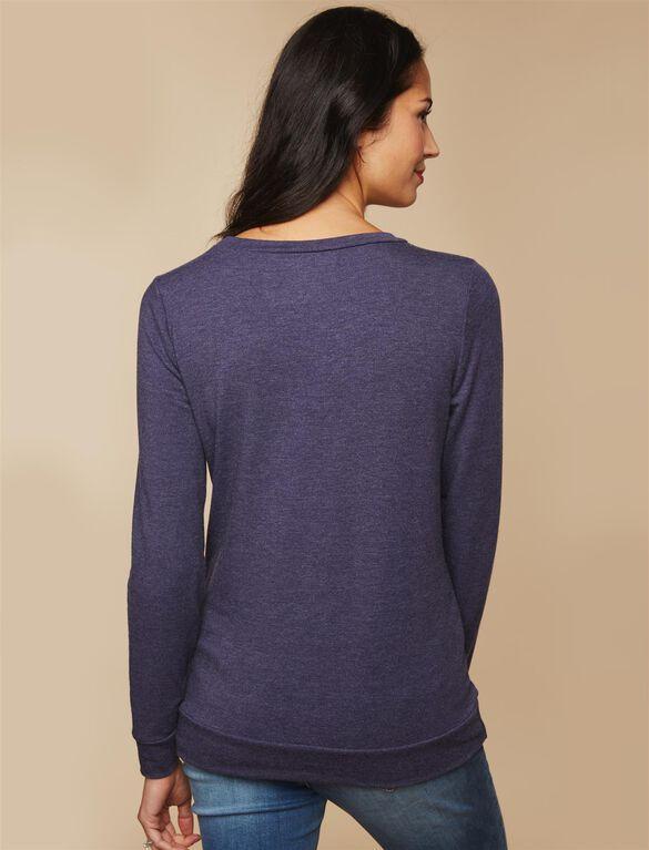 Oh Deer! Maternity Sweatshirt, Navy