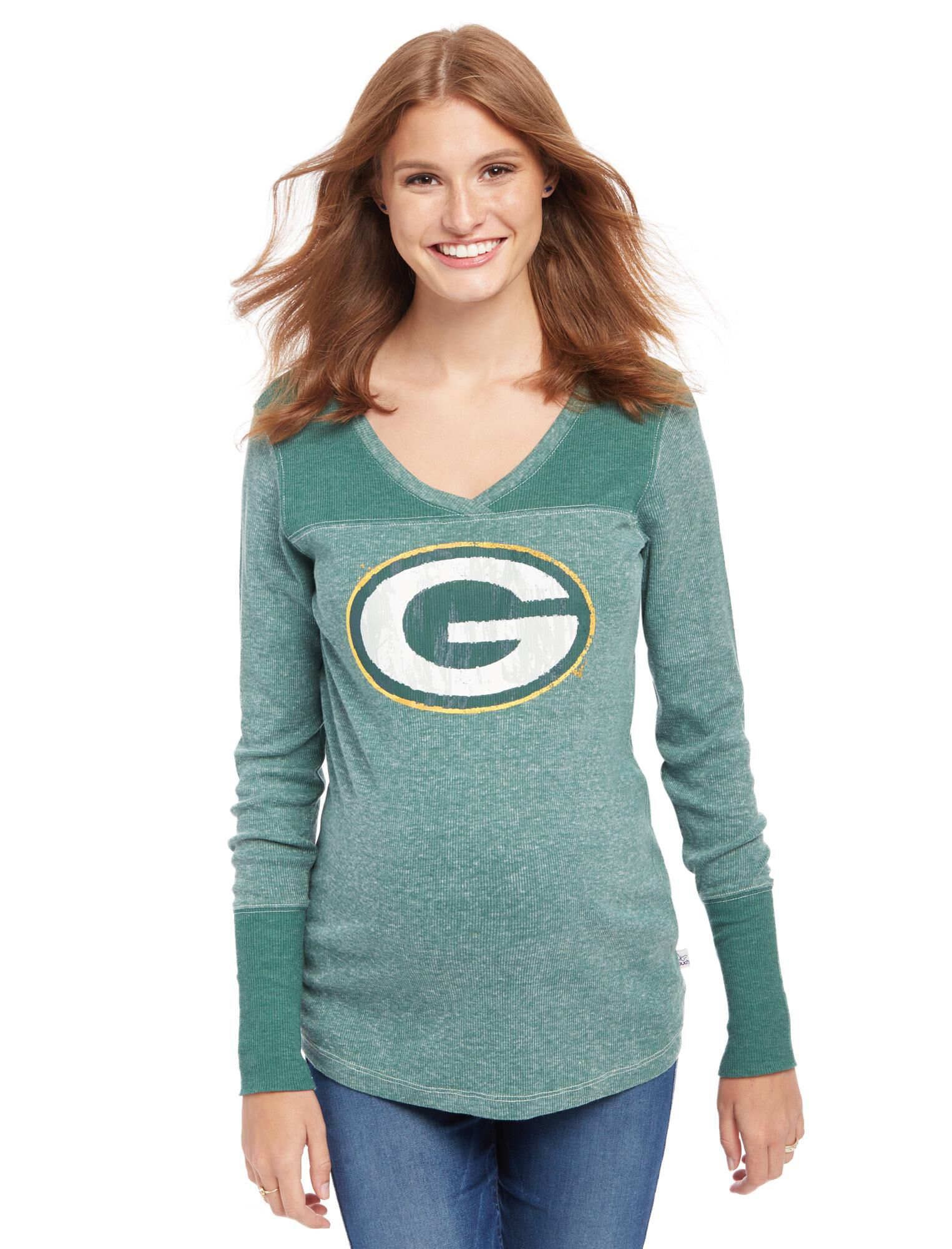 Green Bay Packers NFL Long Sleeve Maternity Graphic Tee
