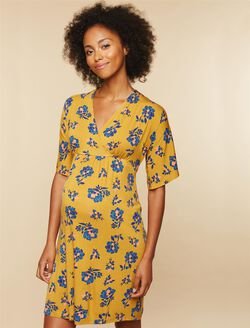Tie Detail Maternity Dress, Yellow Print