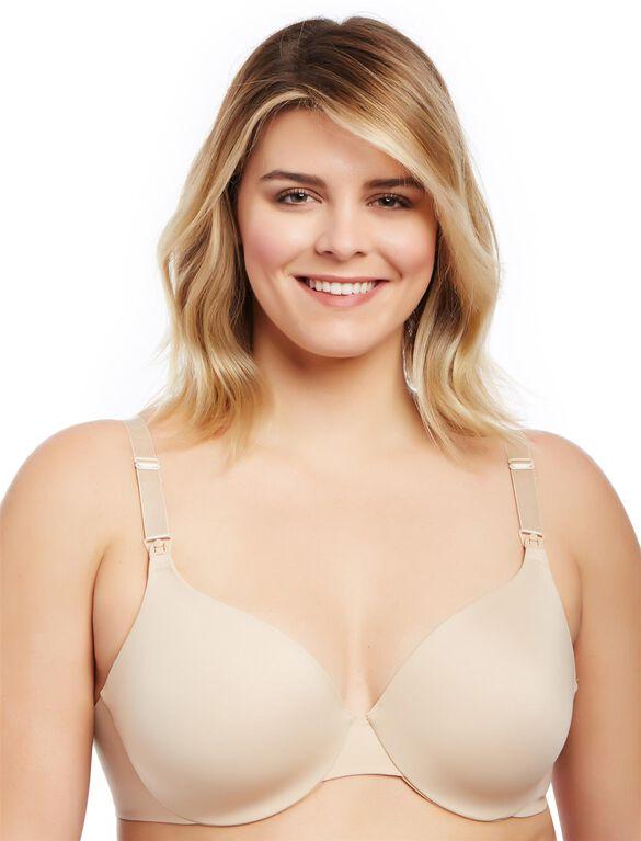 Plus Size Full Coverage Back Smoothing Nursing Bra- Nude, Nude