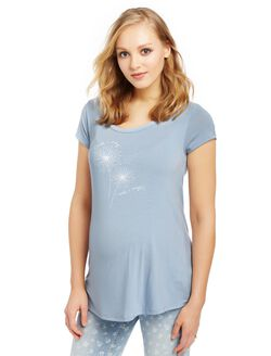 I Wish I May Maternity Swing Tee, Blue