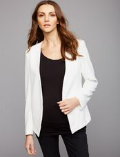 Matty M Open Front Maternity Jacket, White