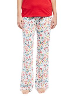 Maternity Sleep Pants- Prints, Mitten Print